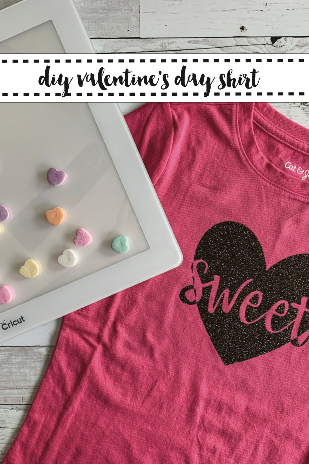 Cricut BrightPad Valentine's Day Shirt