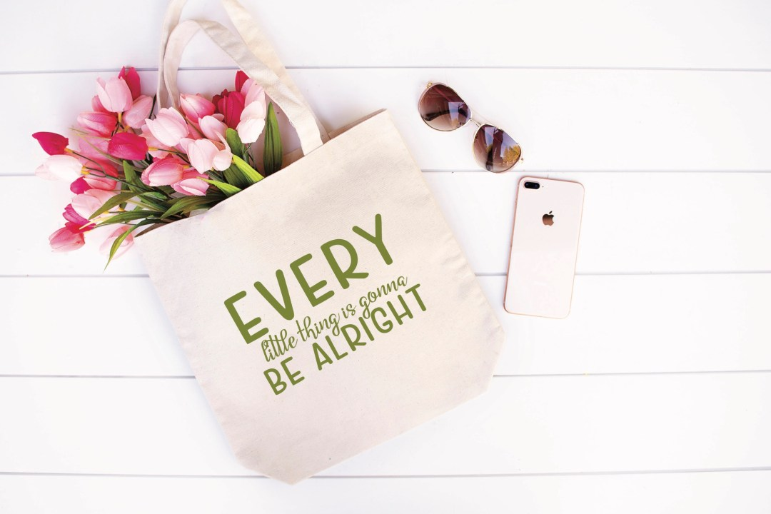 Every Little Thing is Gonna Be Alright Market Bag iPhone Sunglasses Flowers