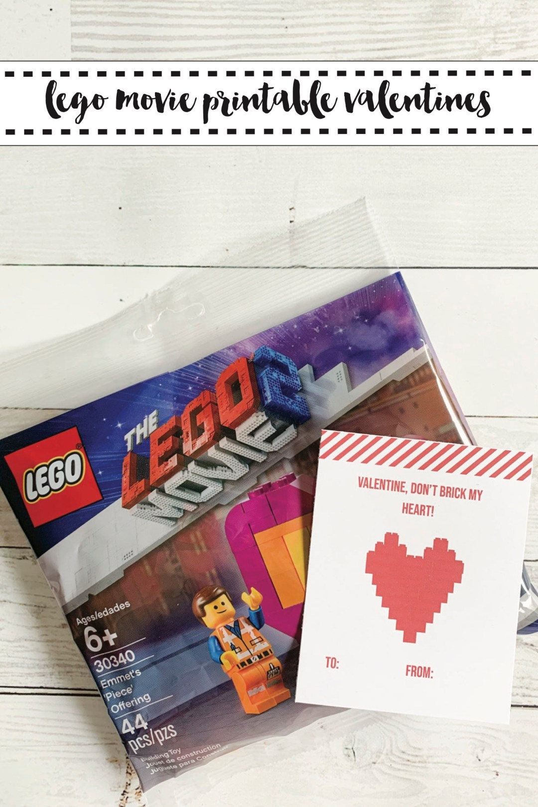LEGO Movie Valentine's Day Card