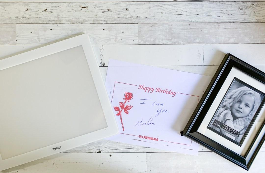 Cricut BrightPad Card Frame