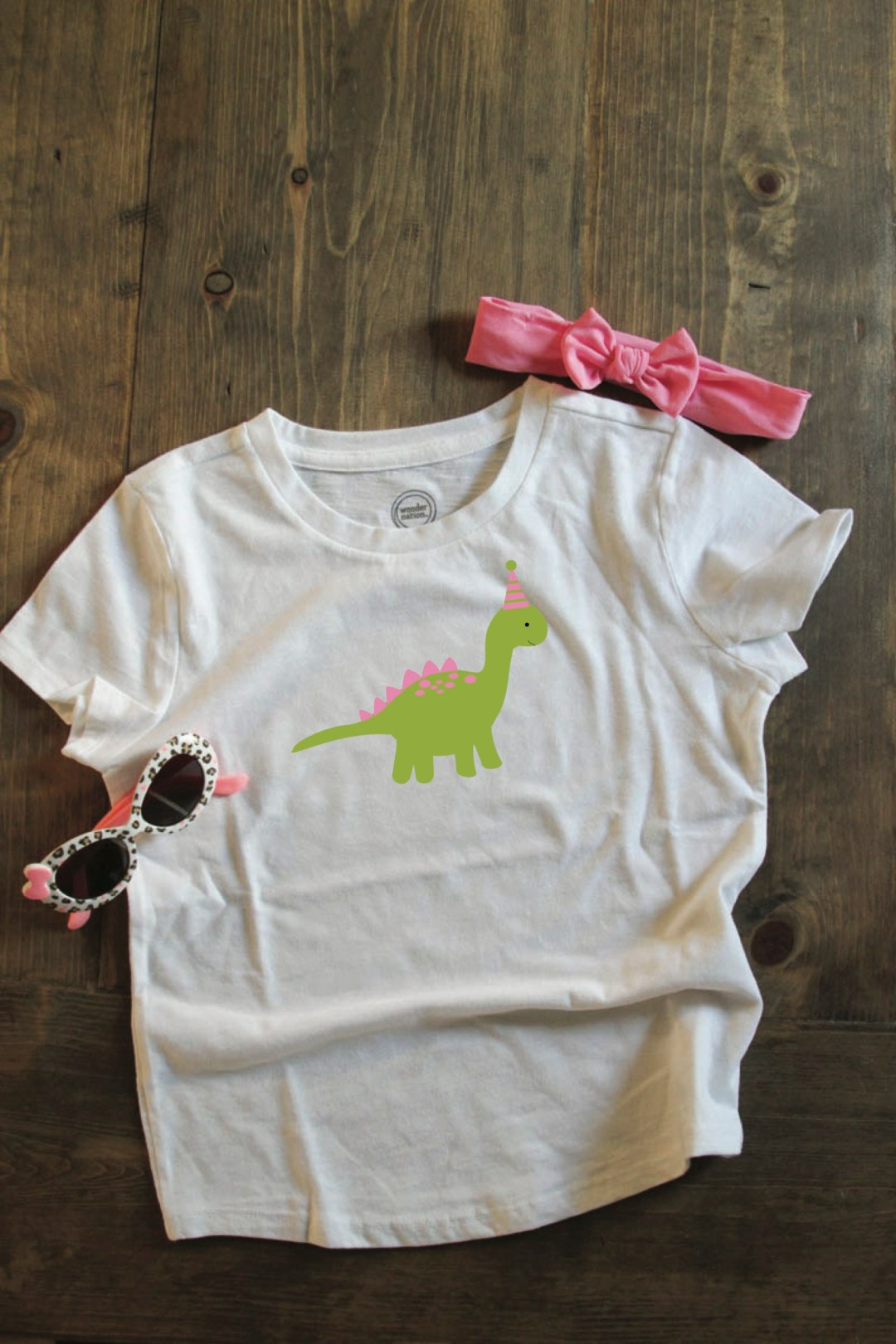 Pink Dinosaur Party Shirt
