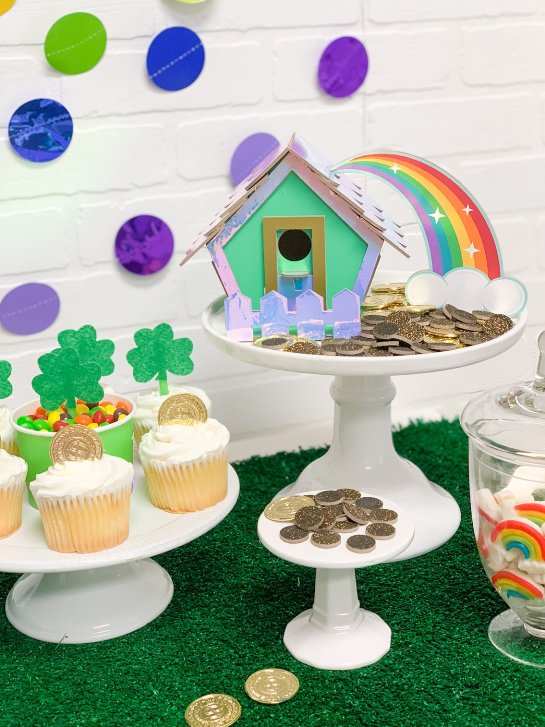 St. Patrick's Day Celebration Gold Coins Cupcakes