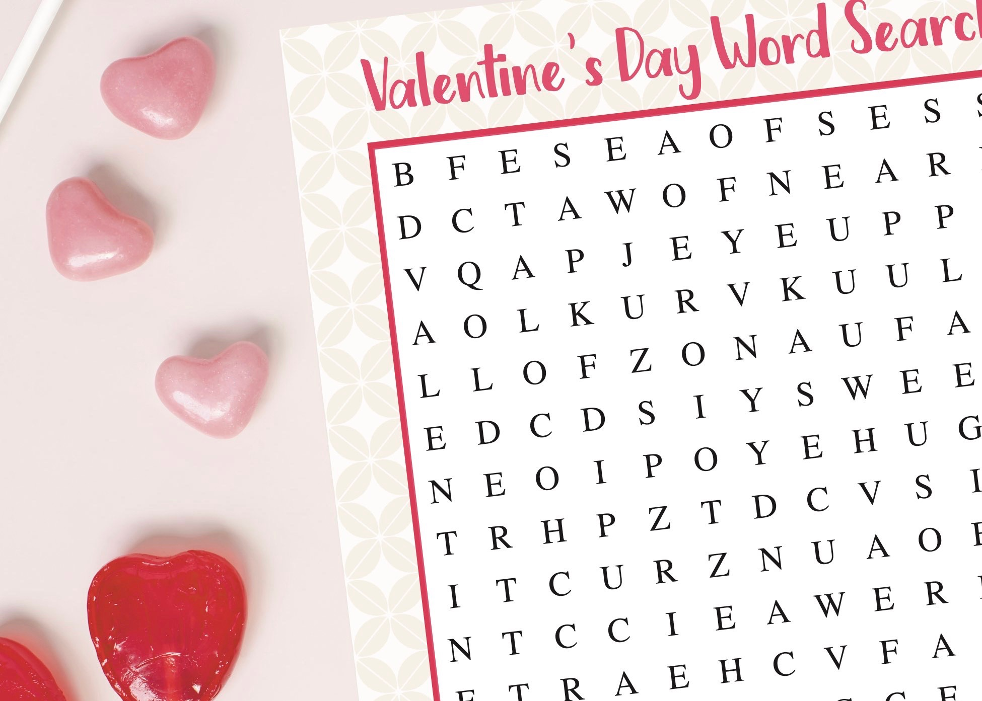 photo regarding Valentine Word Search Printable named Valentines Working day Term Glance Printable - Day-to-day Social gathering Journal