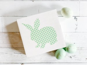 Gingham Bunny Easter Decoration Easter Eggs