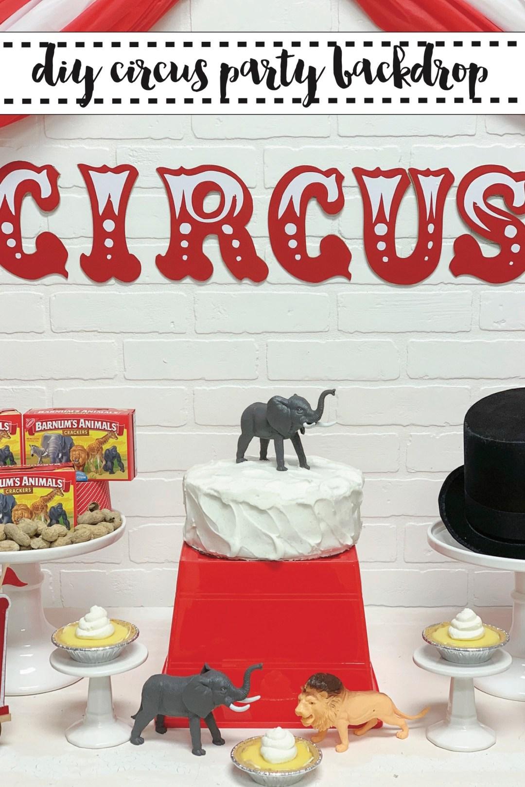 Circus Party Tent Backdrop DIY