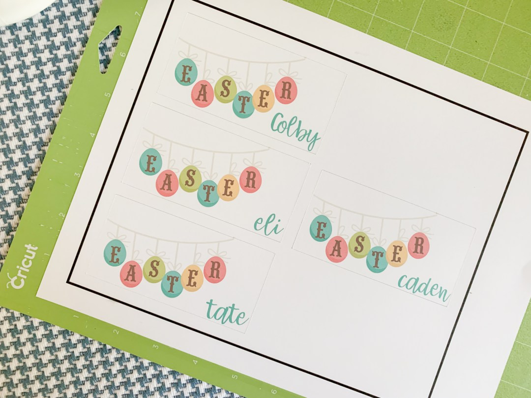 Cricut Cutting Mat Easter Placecard