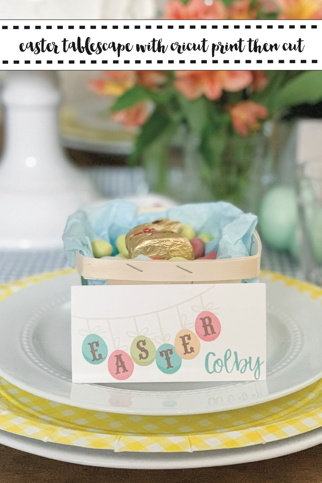 Cricut Print Then Cut Easter Placecard
