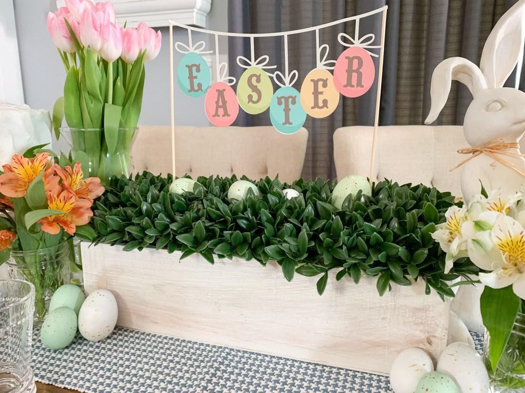 Boxwood Garden Box Easter Banner