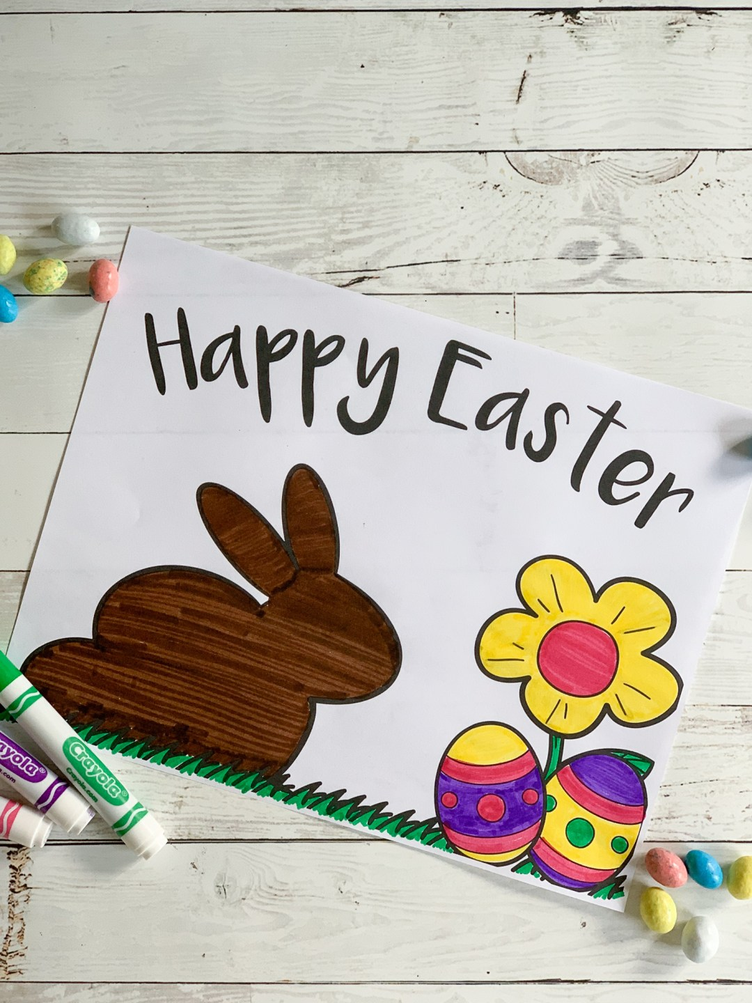 Colored Easter Printable
