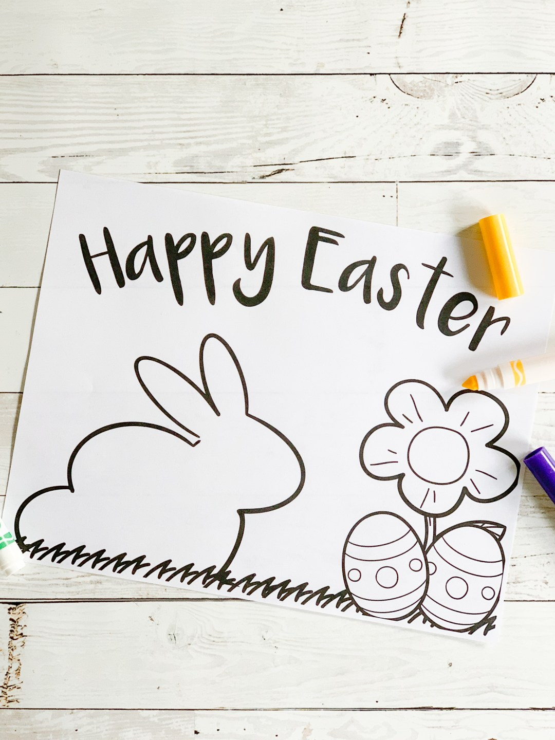 Happy Easter Coloring Sheet Crayola Markers