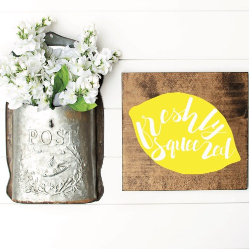Farmhouse Wooden Sign Post Box Flowers