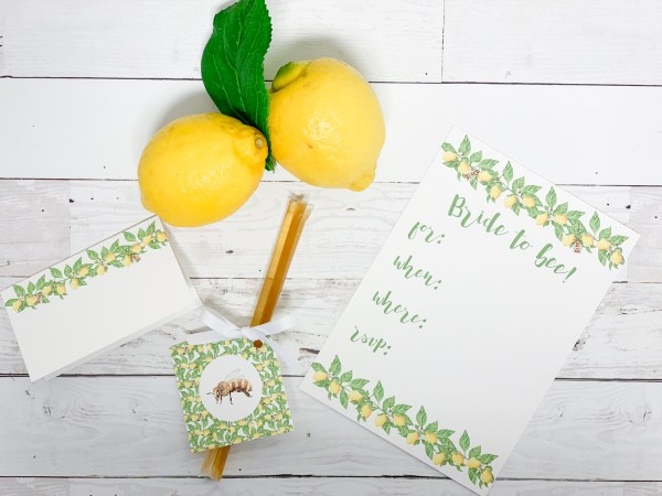 Bride to Bee Bridal Shower Party Printables