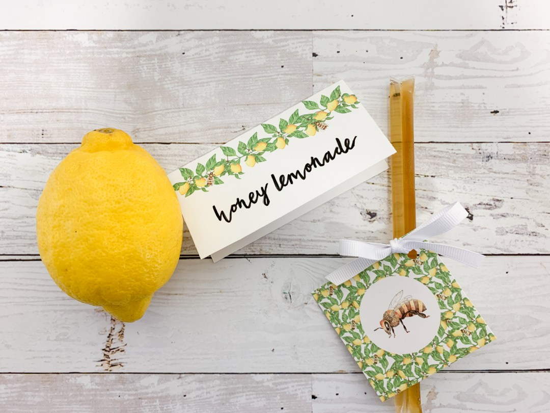 Lemon and Honey Bee Party Printables
