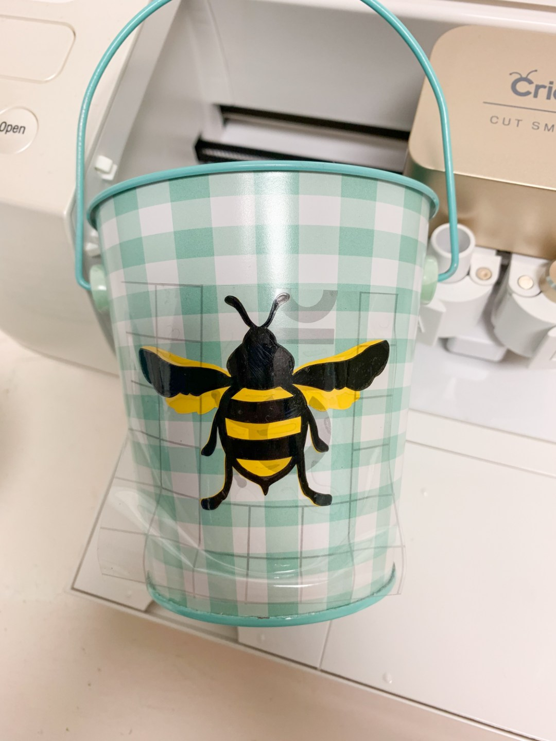 Gingham Bucket Vinyl Bee