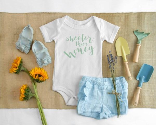 Baby Onesie Flowers Garden Tools