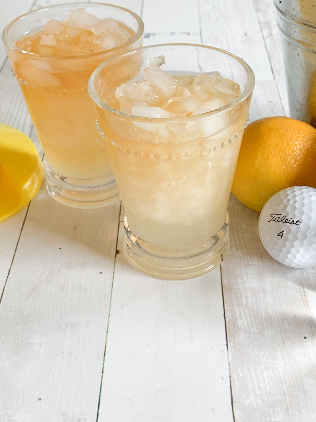 Arnold Palmer Drinks Lemon Golf Ball