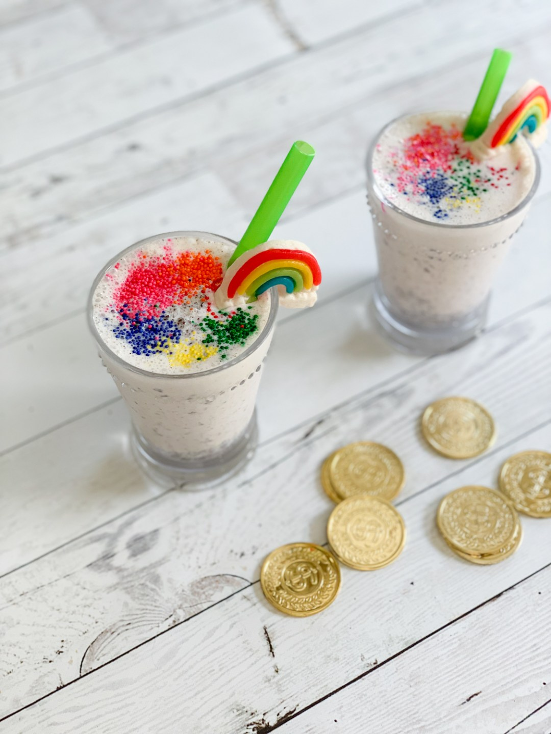 Rainbow Sprinkled Milkshake Gold Coins