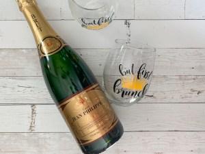Champagne Stemless Glasses