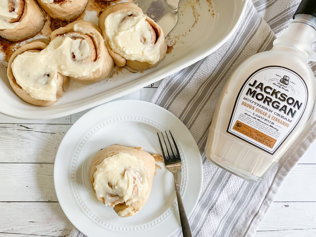 Cinnamon Rolls Fork Plate Jackson Morgan Cream