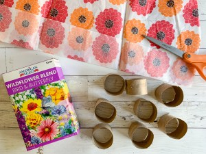 Seeds Tissue Paper Flowers Paper Tubes