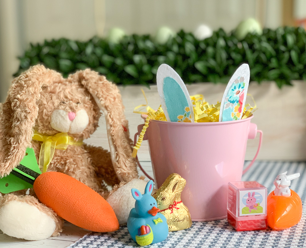 Pink Bunny Bucket Brown Bunny Toy Carrot Easter Toys