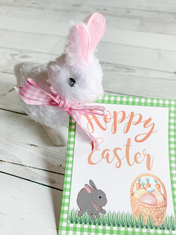 Toy Bunny Hoppy Easter Tag