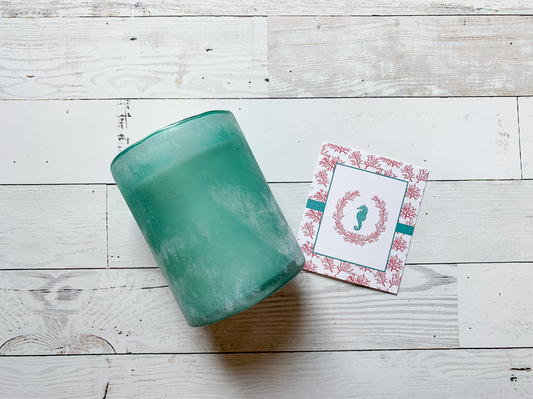Sea Glass Candle Seahorse and Coral Party Printable