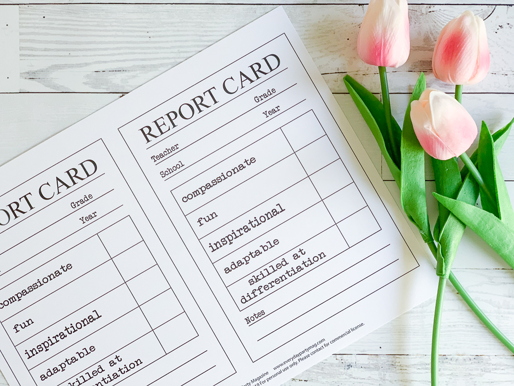 picture relating to Free Printable Report Cards for Teachers identified as Instructor Appreciation Reward Concept - Each day Occasion Journal