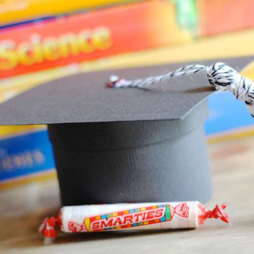 Graduation Cap Gift Box Smarties Candies School Books