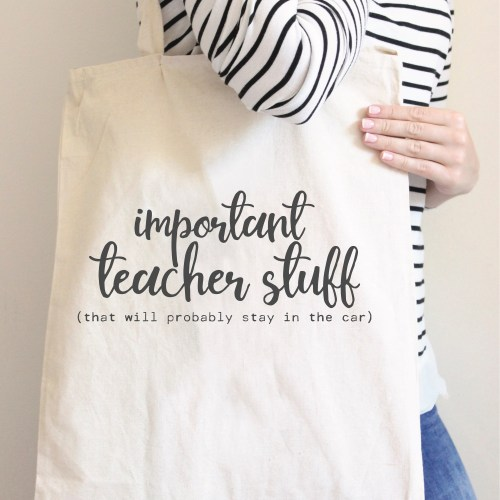 Teacher Stuff Tote Bag