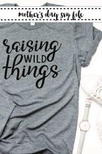 Raising Wild Things Grey Shirt