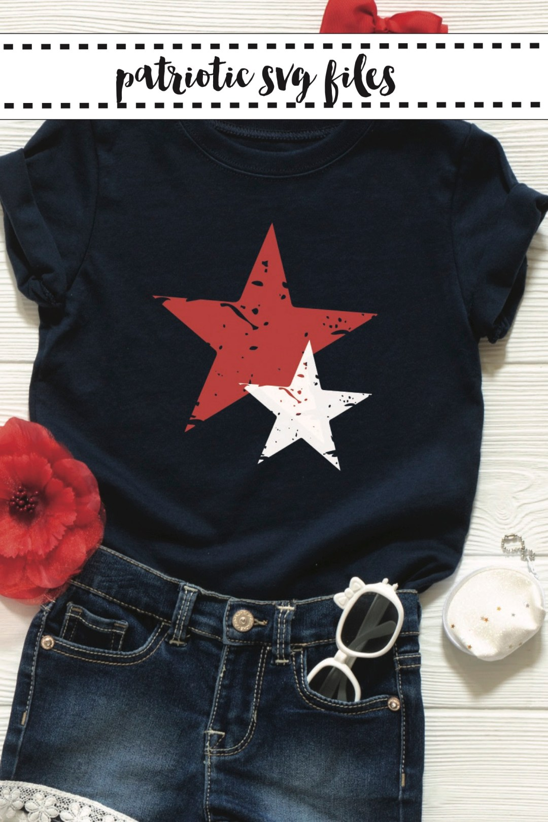 Patriotic Shirt Flower Sunglasses