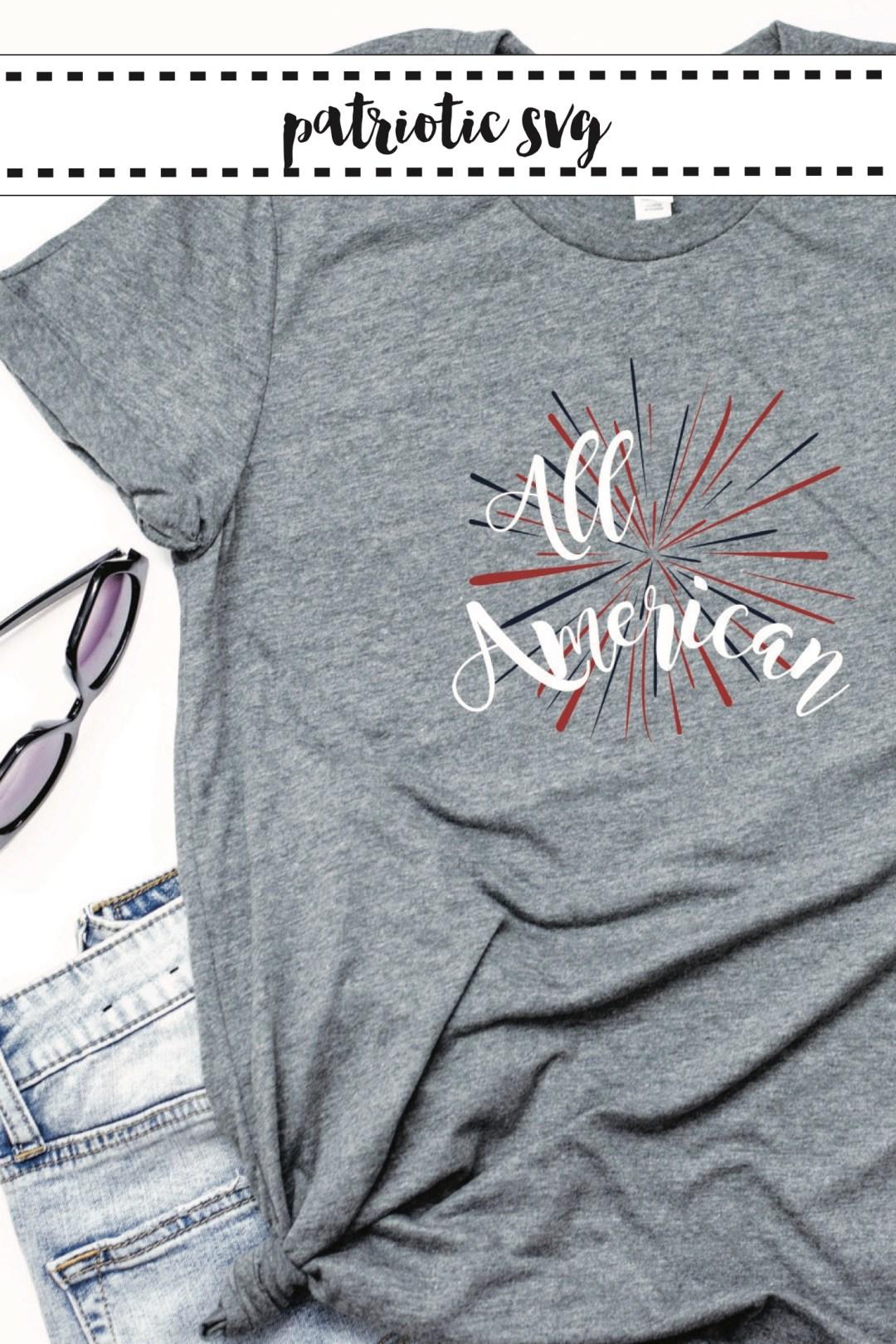 Fourth of July Shirt Jean Shorts Sunglasses