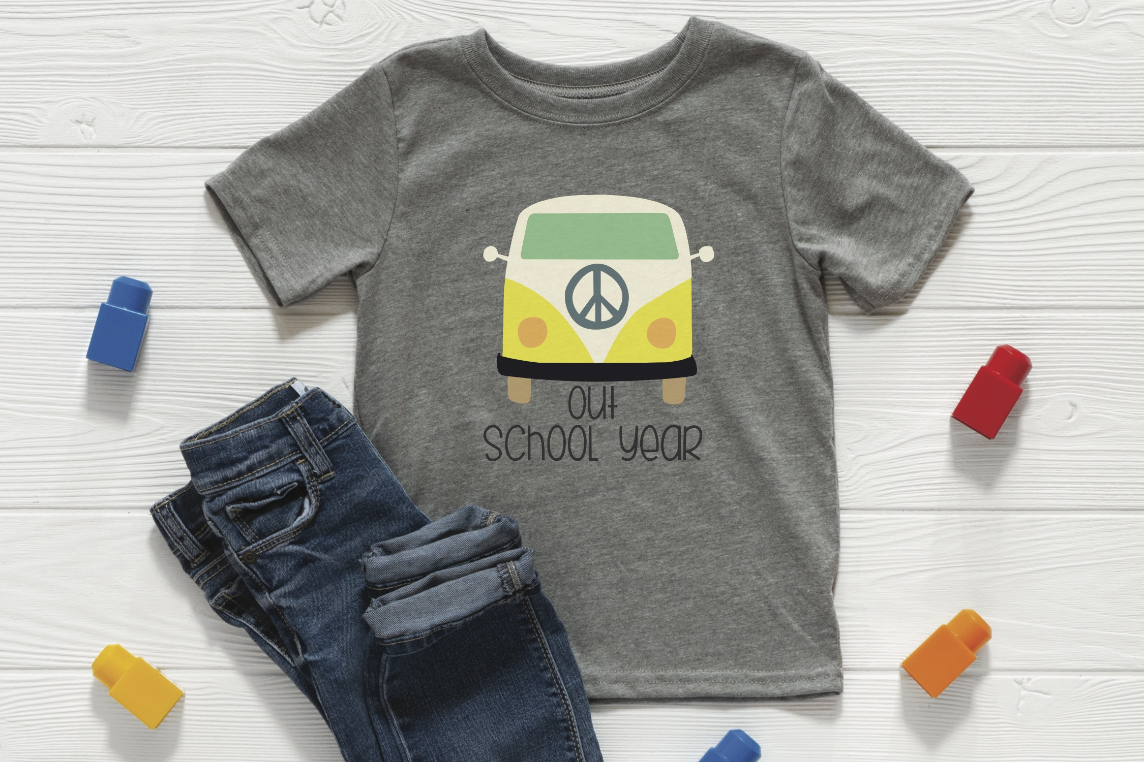 VW bus shirt jeans
