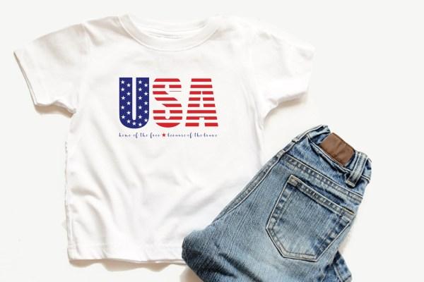 USA T-Shirt Jeans