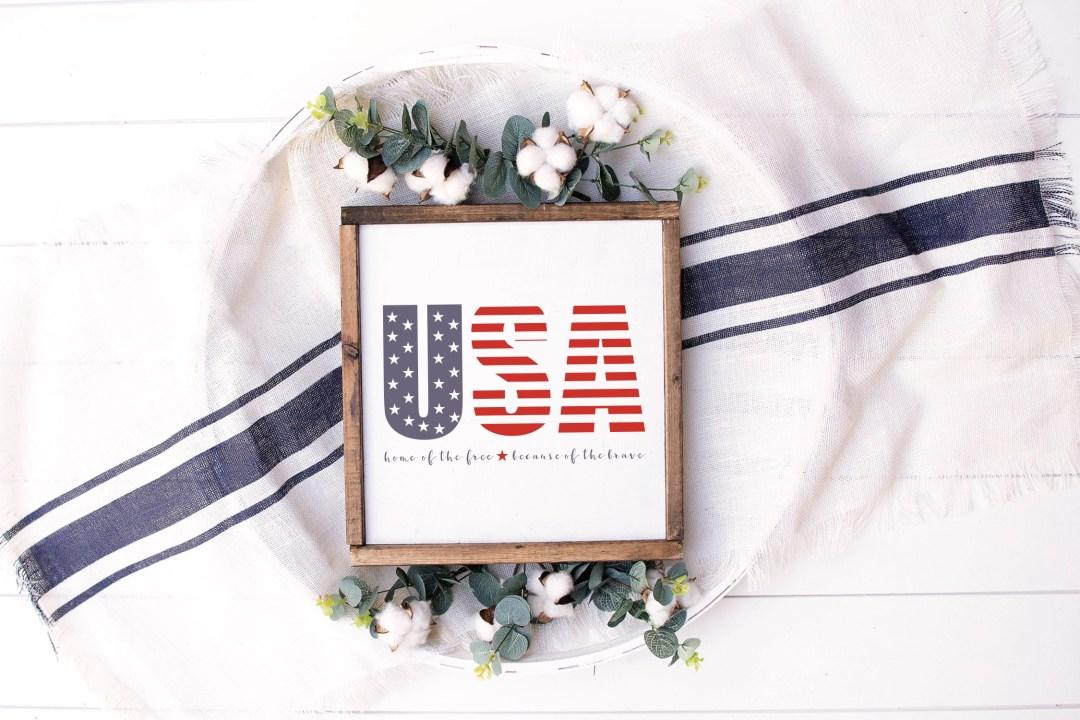 USA Sign Farmhouse Sign