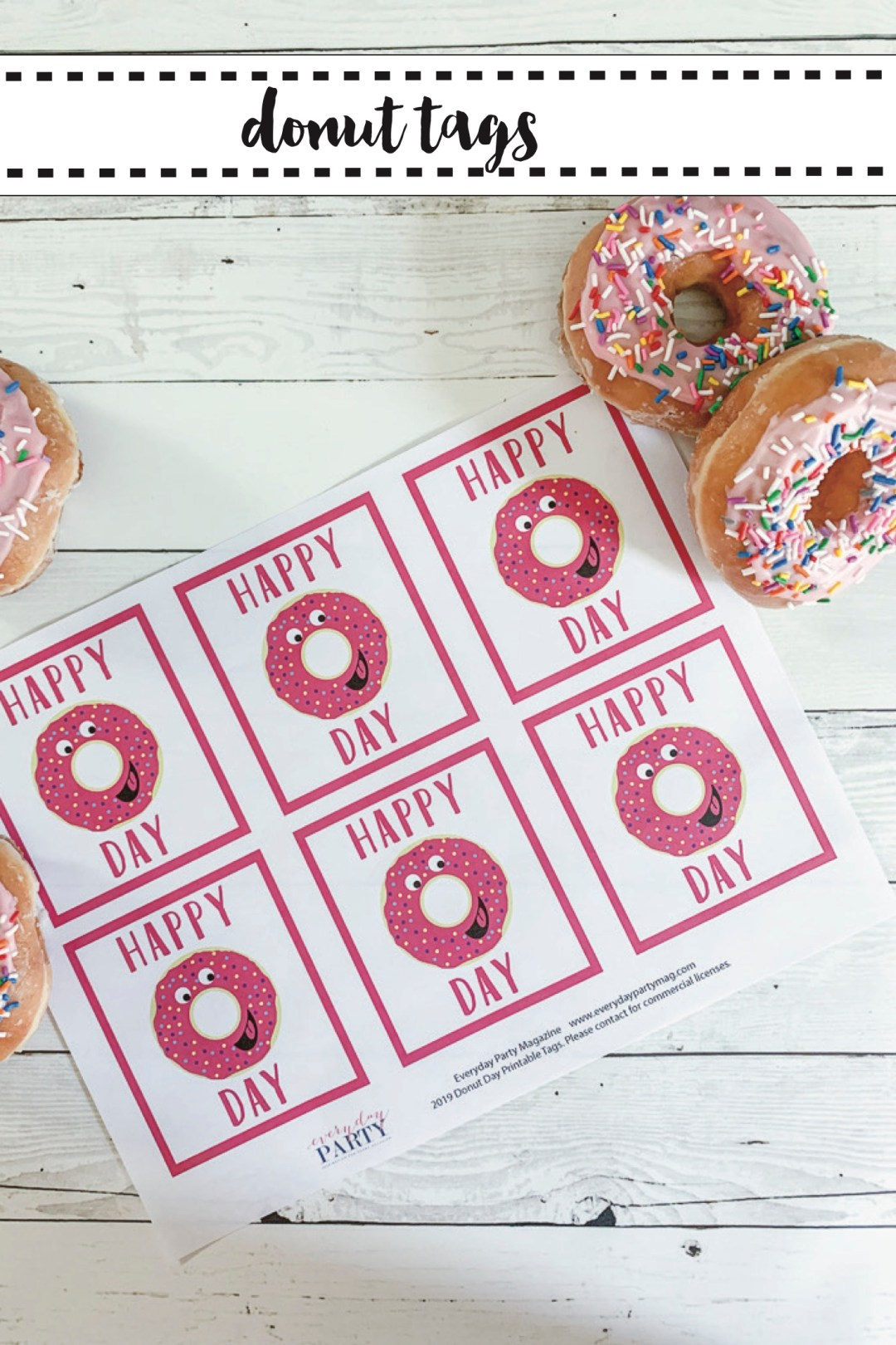 Free Printable Donut Day Tags
