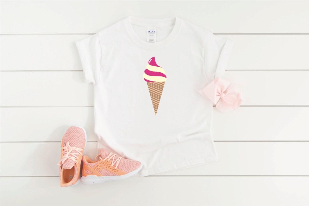 Little Girls Ice Cream Shirt
