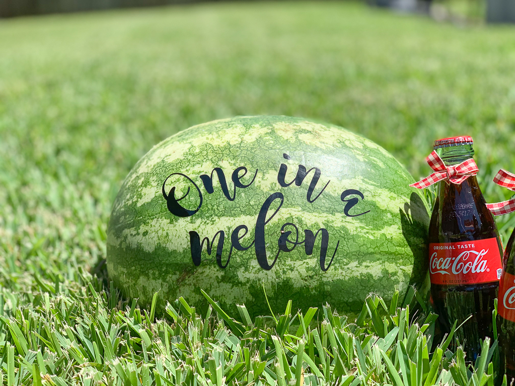 One in a Melon Watermelon Glass Cola Bottle