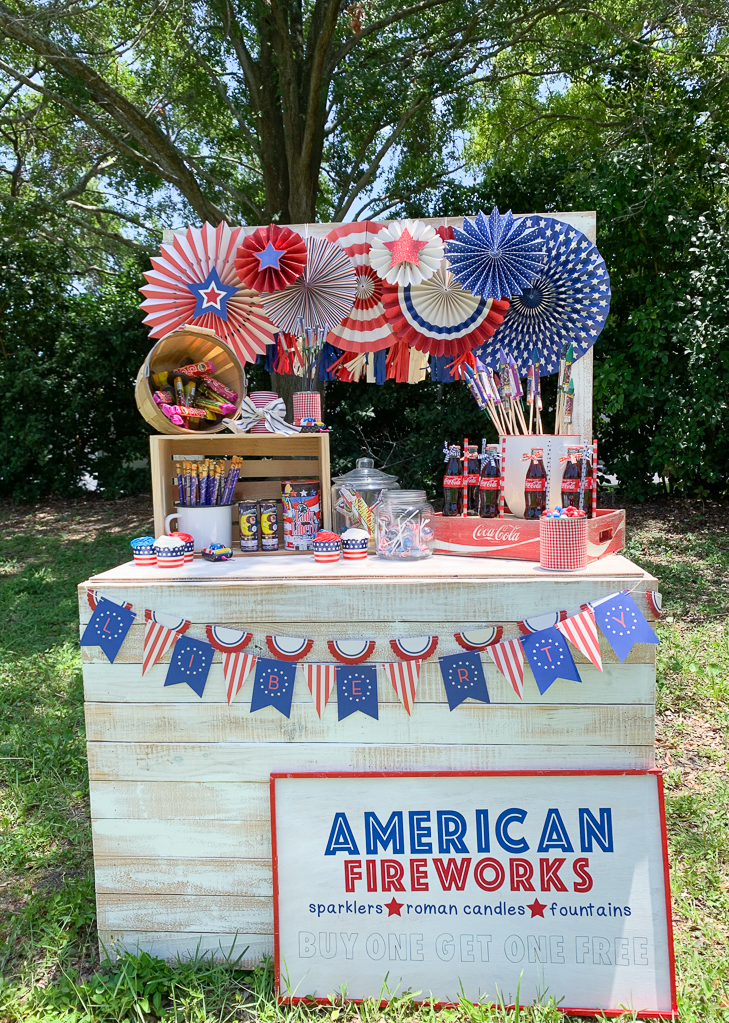 Fourth of July Fireworks Stand