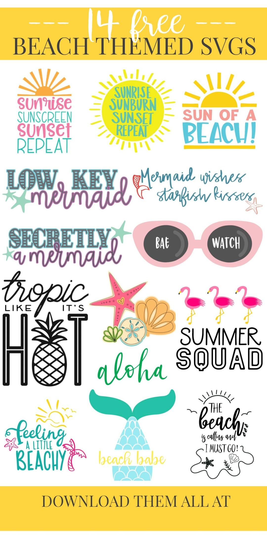 Beach Themed SVG Files
