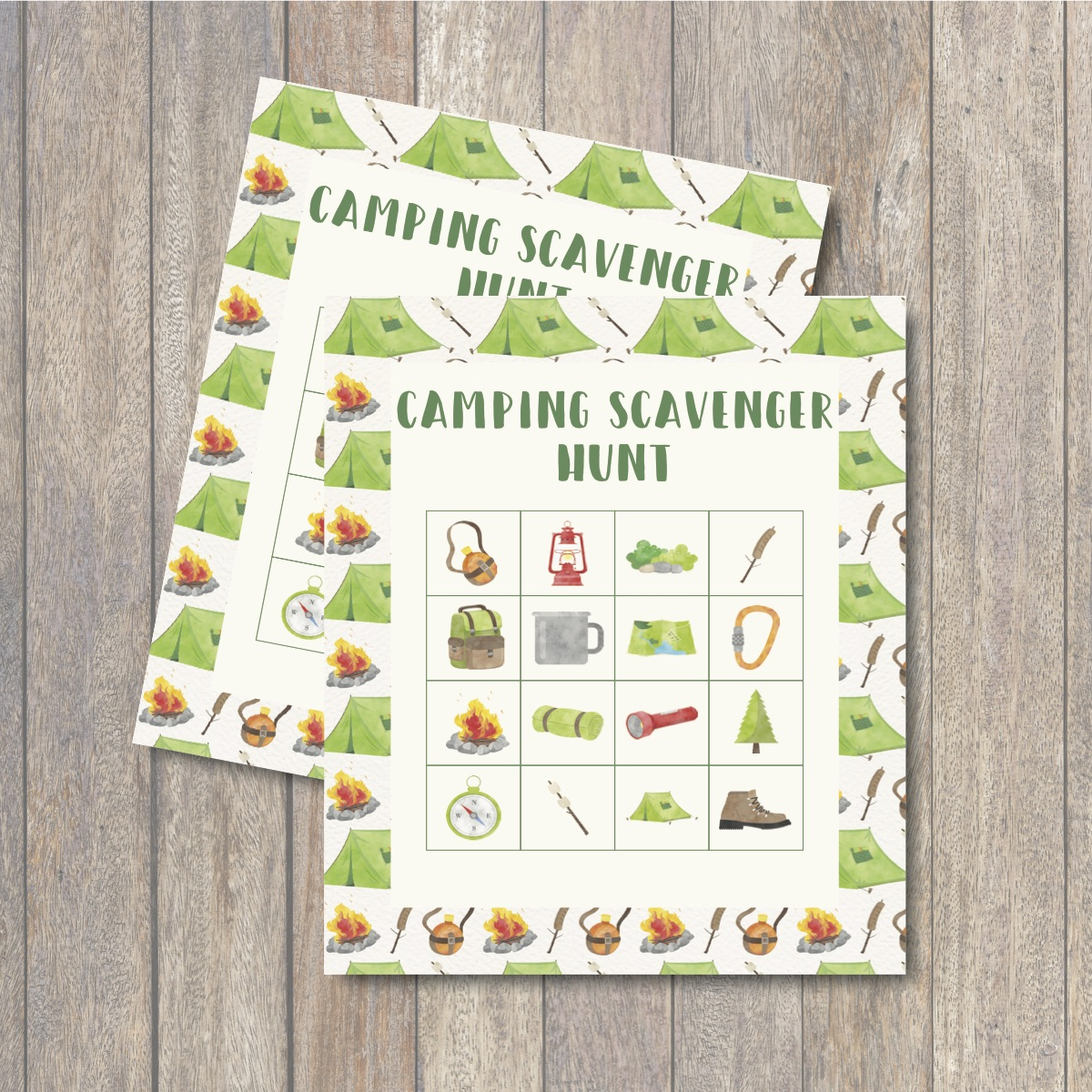 graphic relating to Camping Scavenger Hunt Printable named Tenting Scavenger Hunt Printable - Each day Occasion Journal
