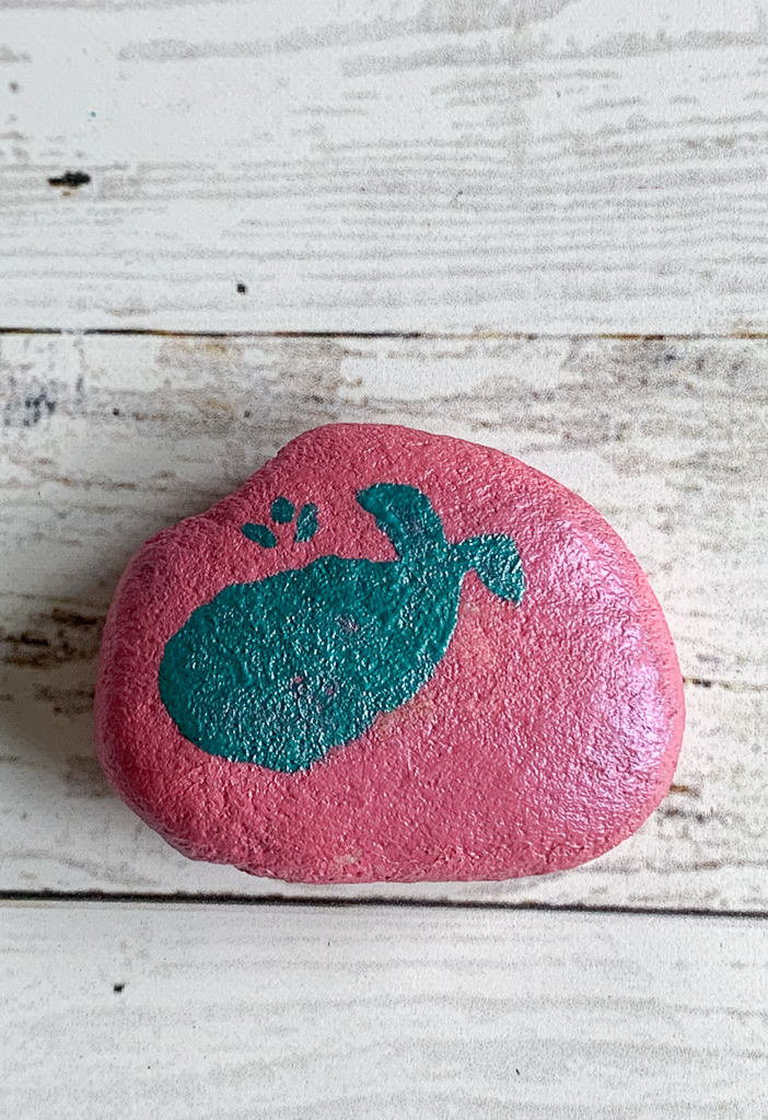 Whale Painted Rock