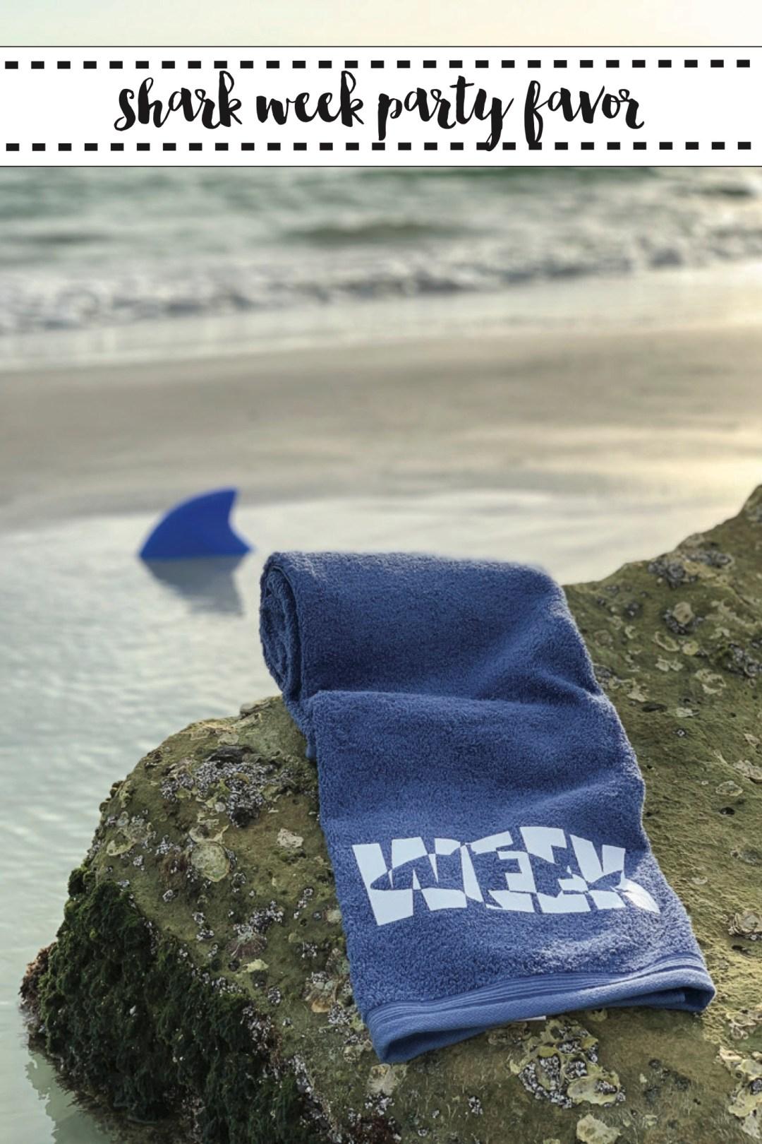 Shark Week Towel DIY