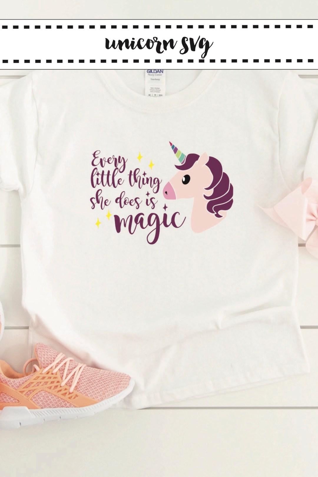 Little Girls Graphic T-Shirt Unicorn