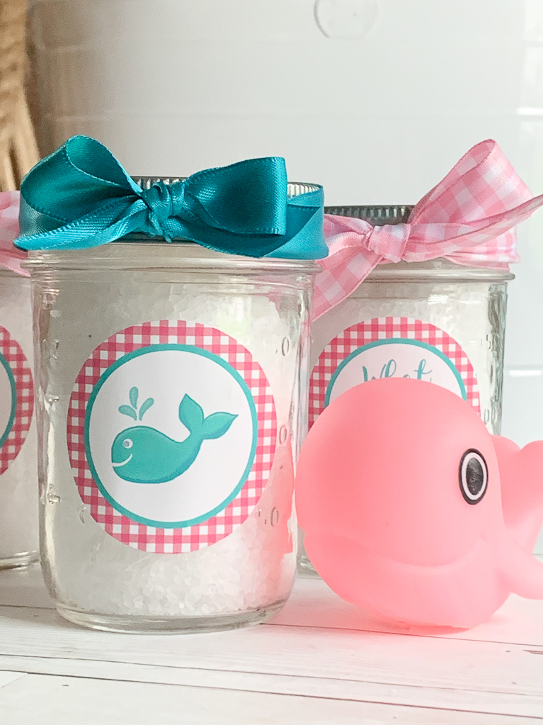 Whale Baby Shower Favors