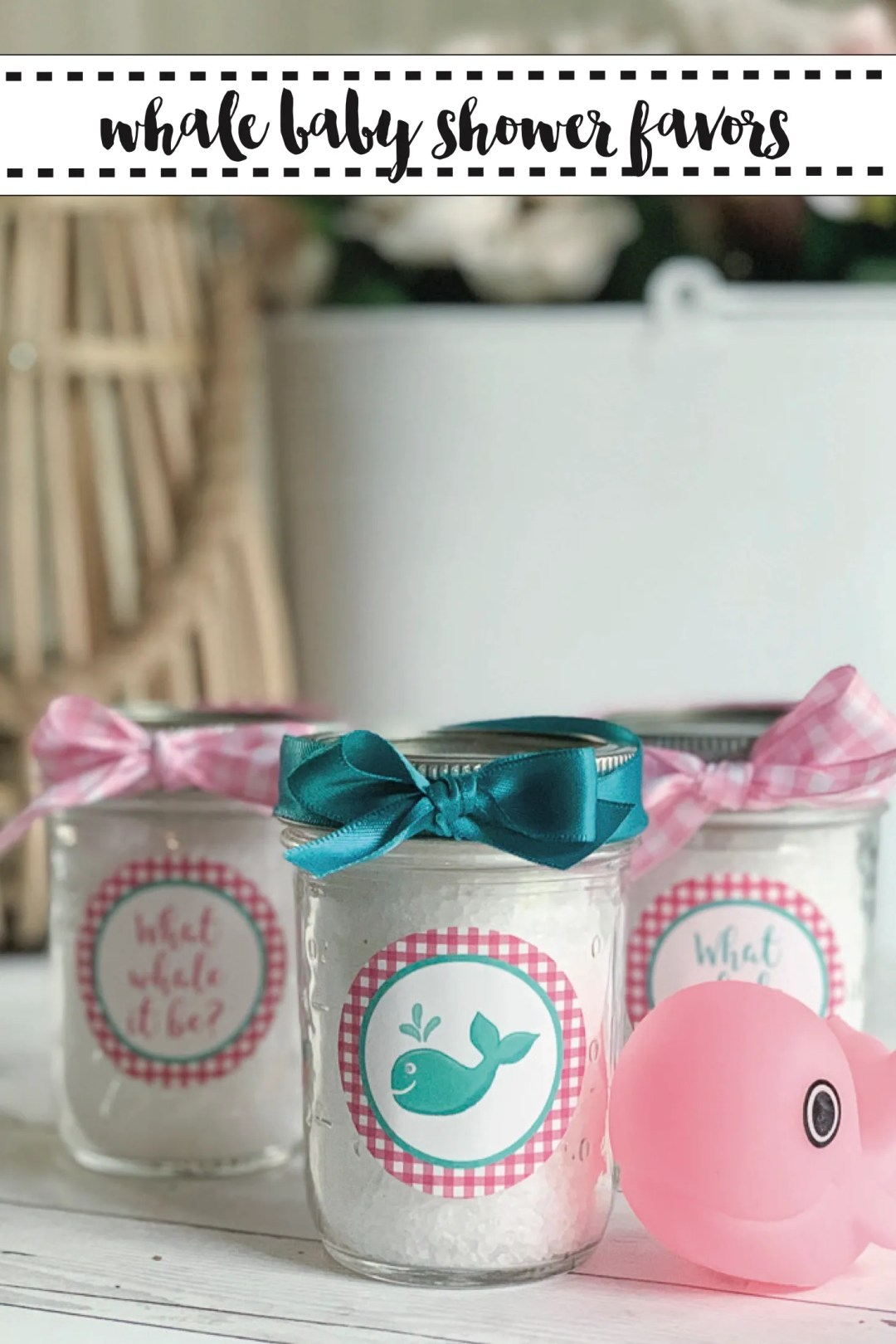 Whale Baby Shower Favors Ball Canning Jars
