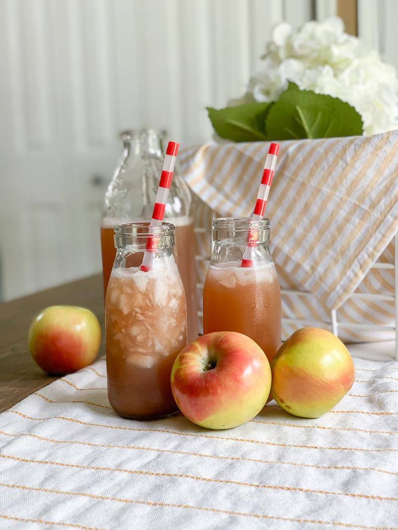 Fall Table Apple Cider Jars