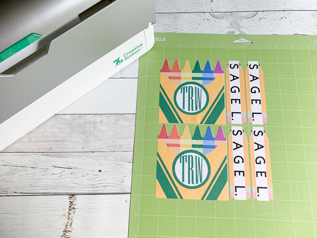 Cricut Cutting Mat Back to School Labels