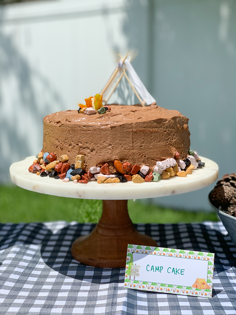 Camping Party Cake